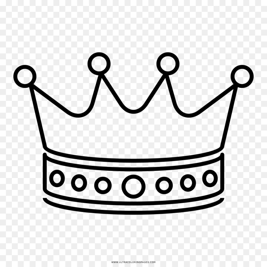 Menggambar Buku Mewarnai Mahkota Hitam Dan Putih Mahkota Unduh