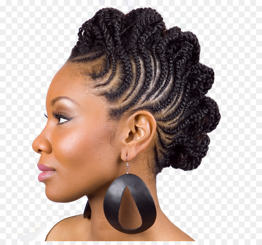 Updo Mohawk Hairstyle Braid Cornrows Hair Png Download 900827