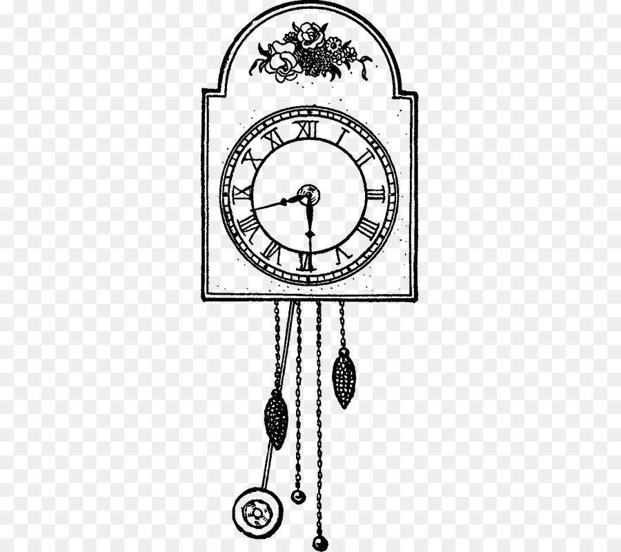 Libro para colorear de Dibujo de reloj de Cuco - reloj Formatos De ...