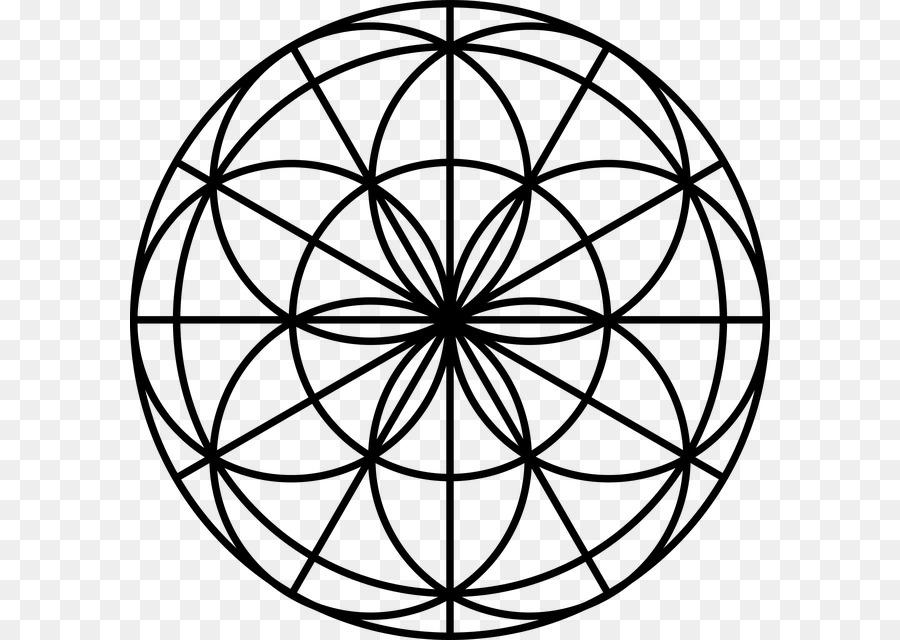 Mandala Boyama Kitabı Cam Budizm Lekeli Yaşam çiçeği Png Indir