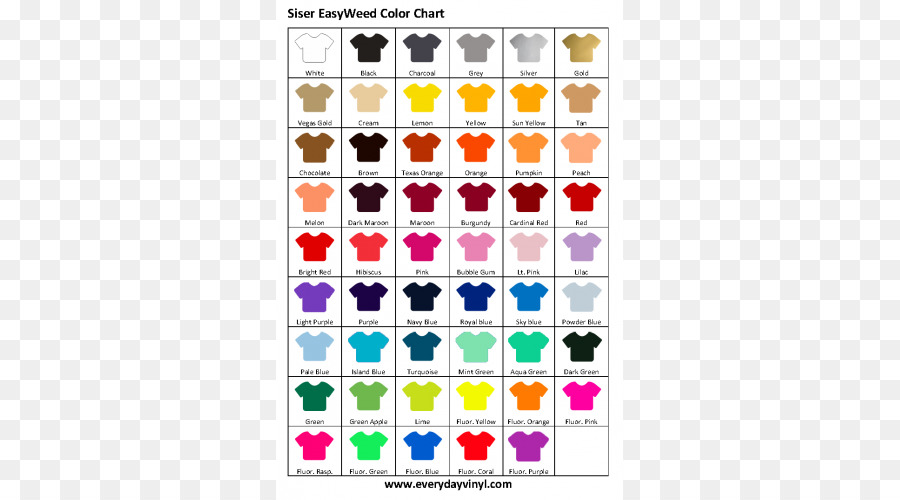 Heat Transfer Vinyl Color Chart T Shirt Rgb Color Model T Shirt