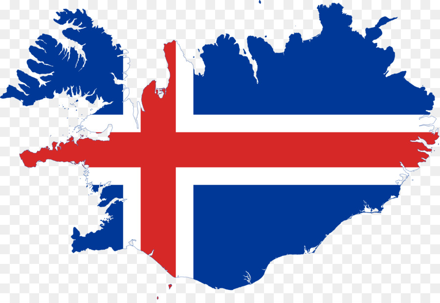 Flag of Iceland Vector Map - map png download - 2000*1363 - Free ...