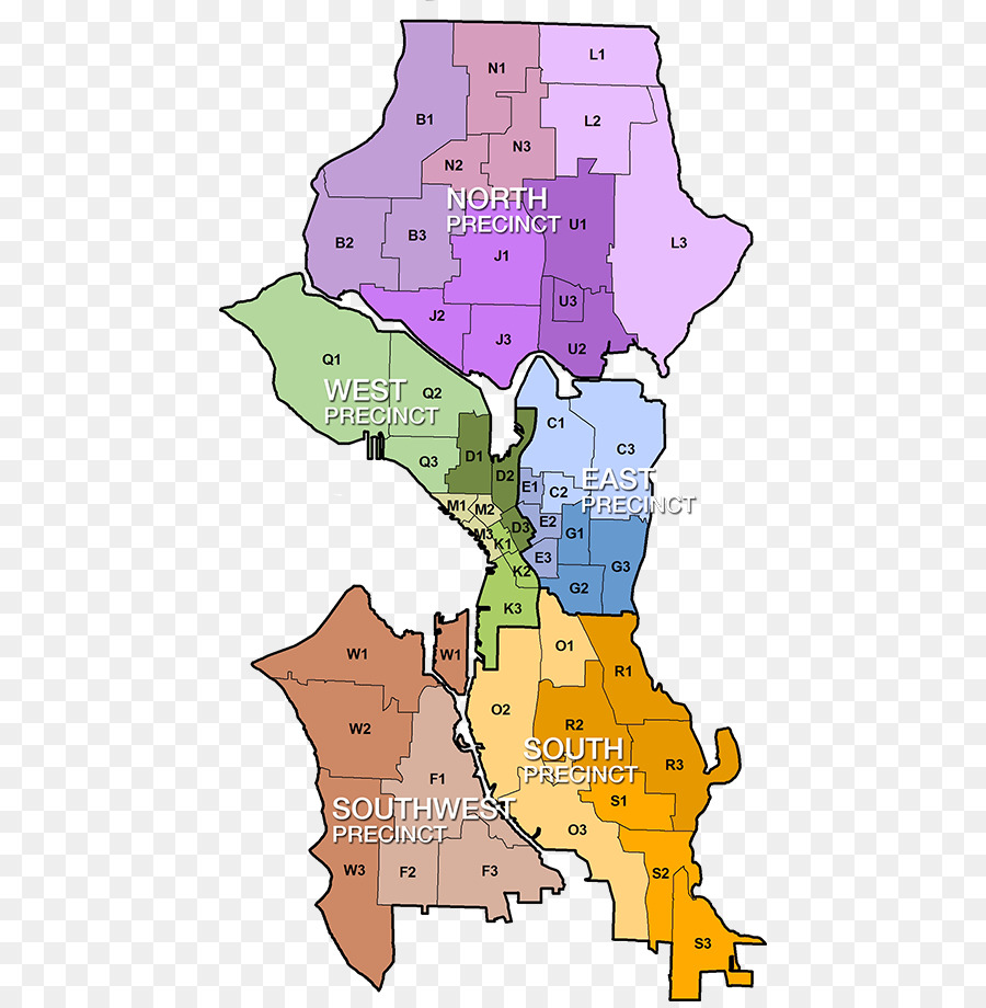 Downtown Seattle Green Lake Capitol Hill Dunlap Map - map png ...