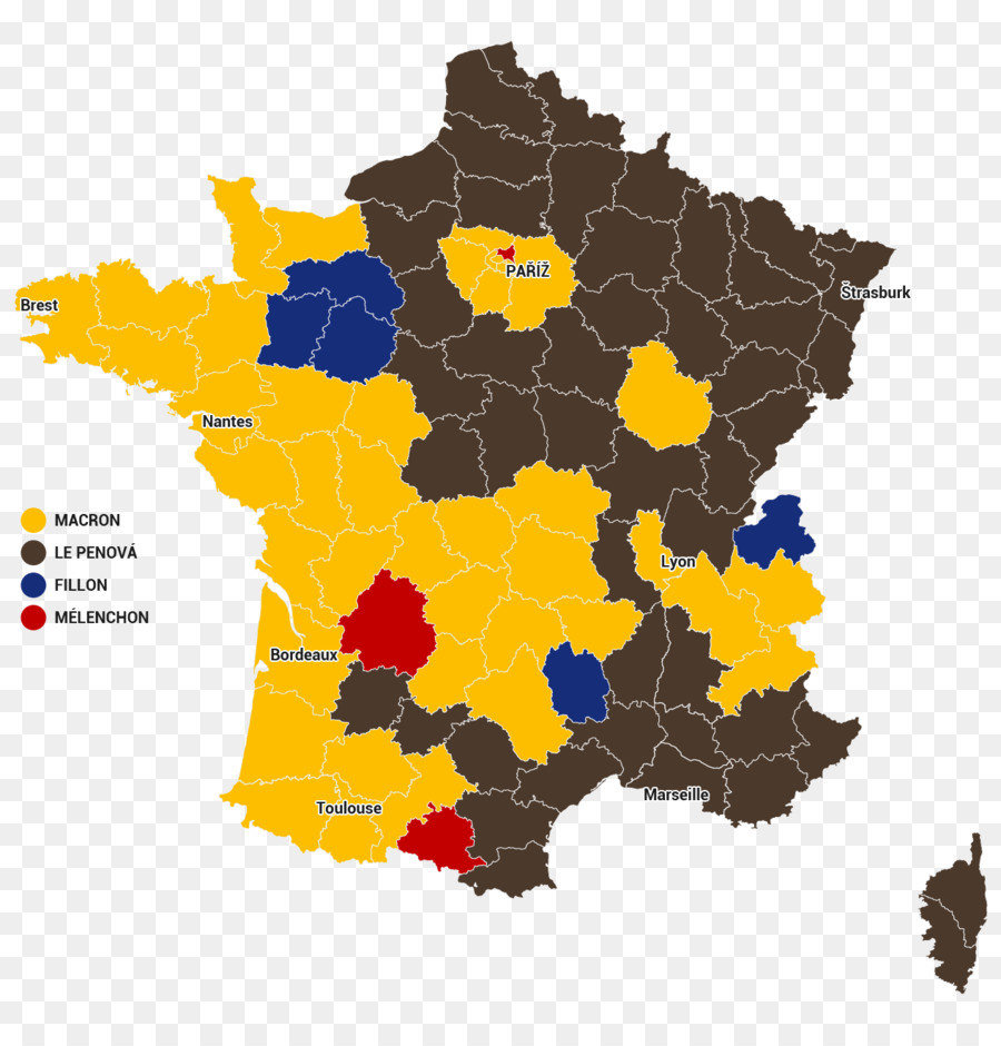 France United States French Presidential Election 2017 Map France - 2017-us-election-map