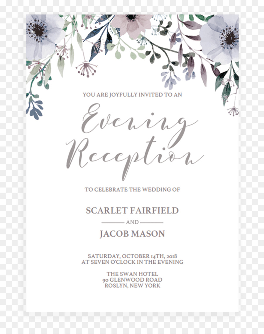 Wedding Invitation Lavender Rsvp Greeting Note Cards Engagement