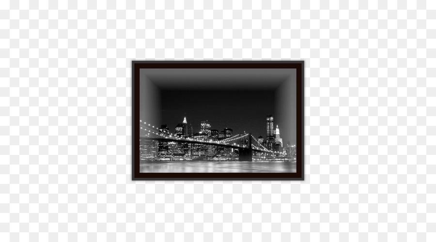 Brooklyn manhattan skyline jembatan nvidia quadro bingkai foto