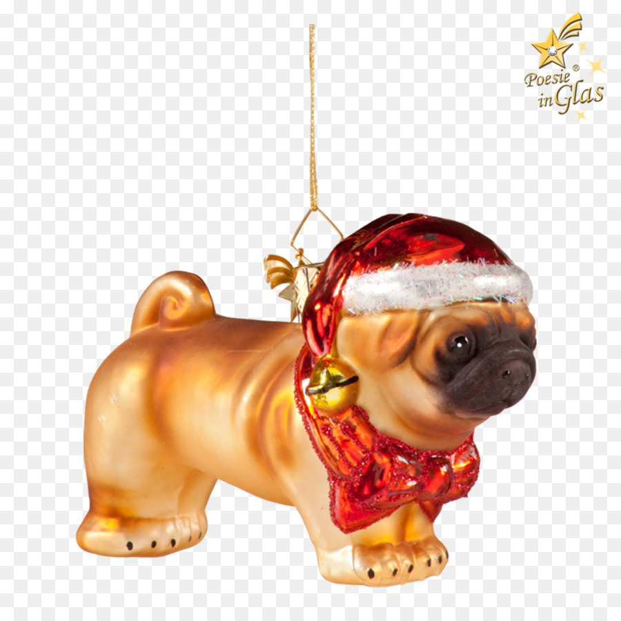 pug puppy love dog breed christmas ornament crystal chandeliers 14 0 2