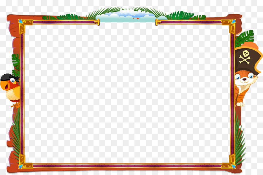 Picture Frames Piracy Clip art - border pirate png download - 1258 ...