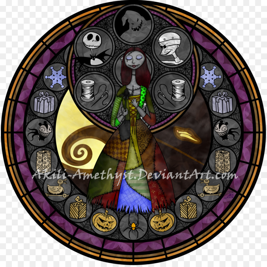 Sally Stained glass Jack Skellington - glass png download - 894*894 ...