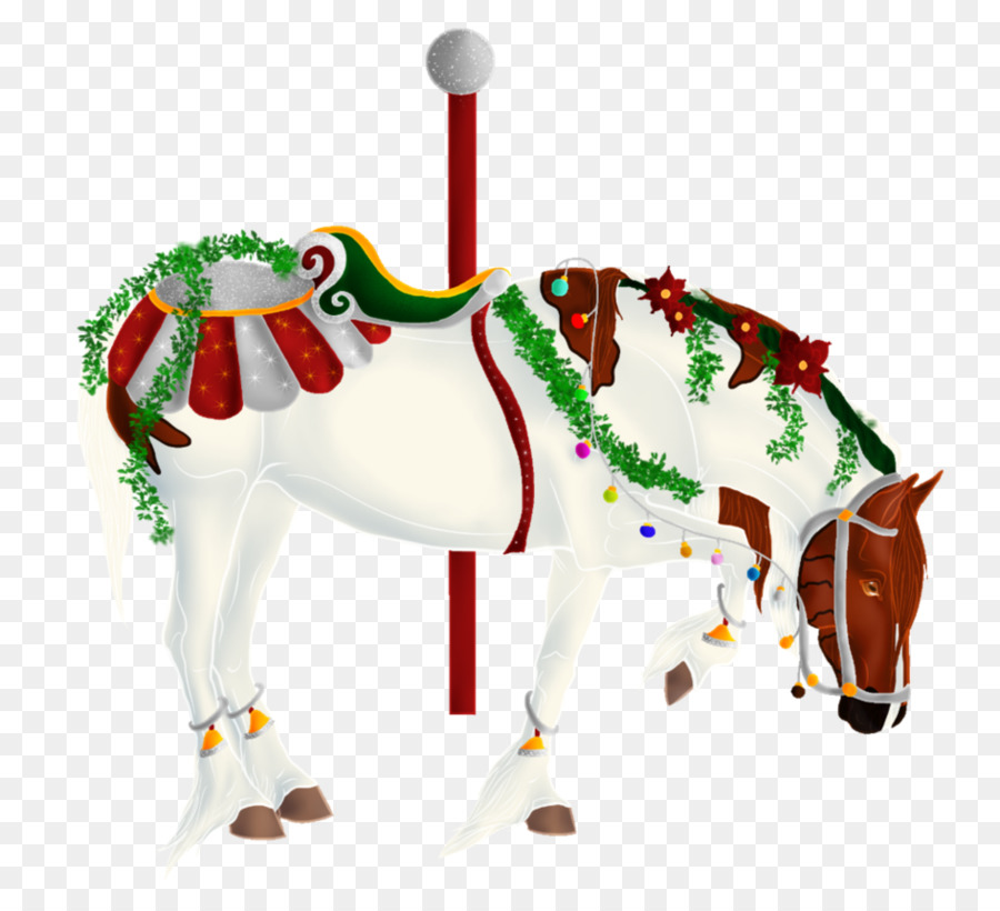 Christmas Horse Cartoon.Christmas Cartoon Png Download 945 845 Free Transparent