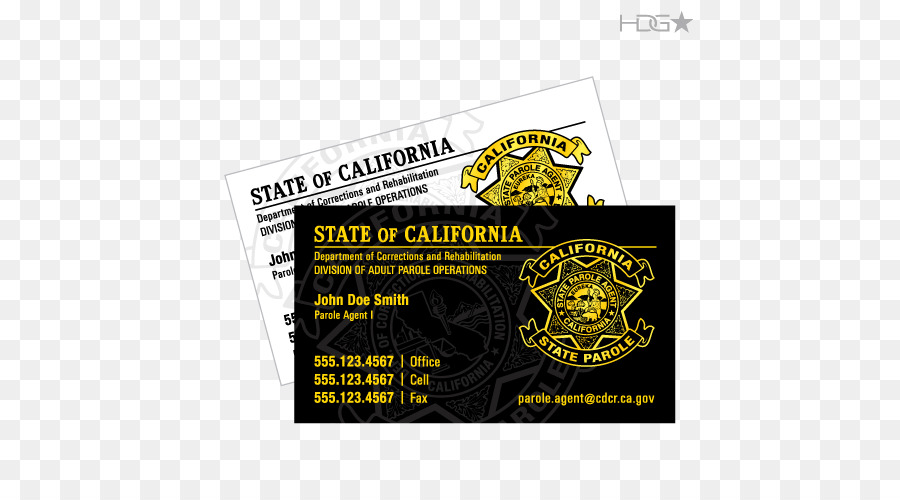 california department of corrections and rehabilitation business cards parole probation officer boutique business card series - Boutique Business Cards
