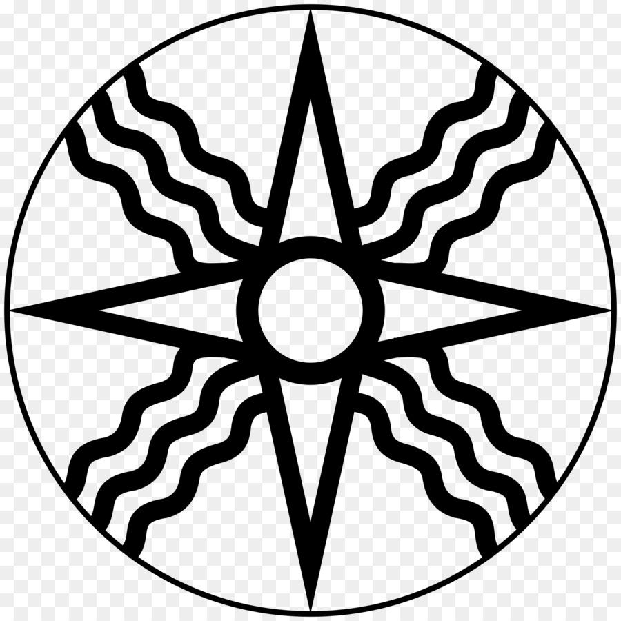 Utu Sumerian Religion Shamash Symbol Symbol Png Download 2000