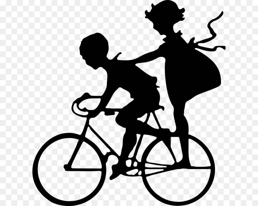 Sibling Brother Silhouette Clip art - boybike png download - 674*720 ...