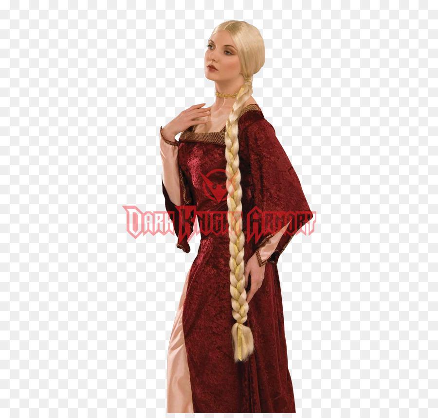 Rapunzel Wig Costume Blond Braid - woman png download - 850*850 ...