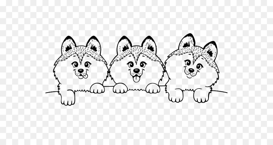 Husky siberiano Cachorro Maltés perro libro para Colorear, Dibujo de ...
