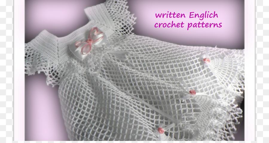 Crochet Lace Dress Textile Pattern Dress Png Download 1200630