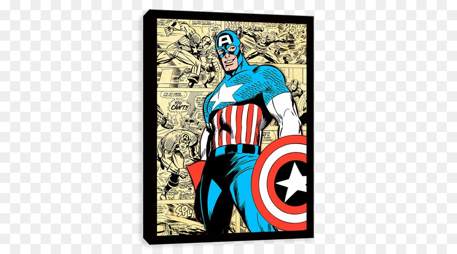 Captain America Hulk Superhero Bedroom Canvas   Captain America