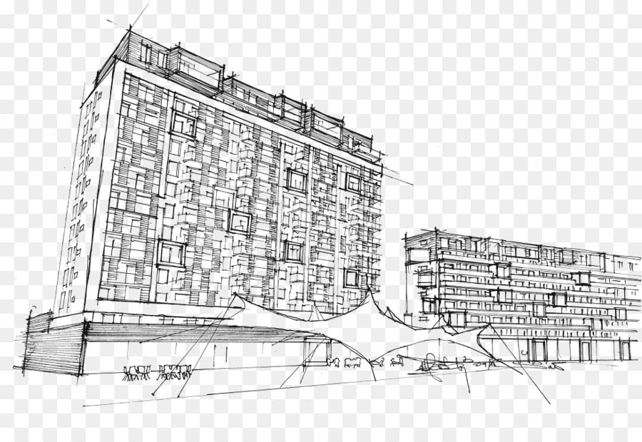 Gambar Arsitektur Fasad Desain Perkotaan Sketsa Unduh Struktur