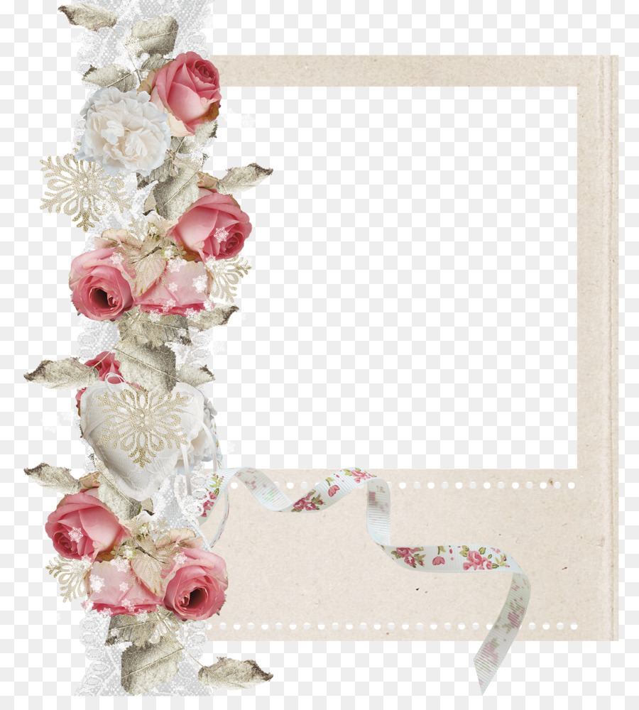 Paper Craft Floral Design Scrapbooking Picture Frames Wedding Png