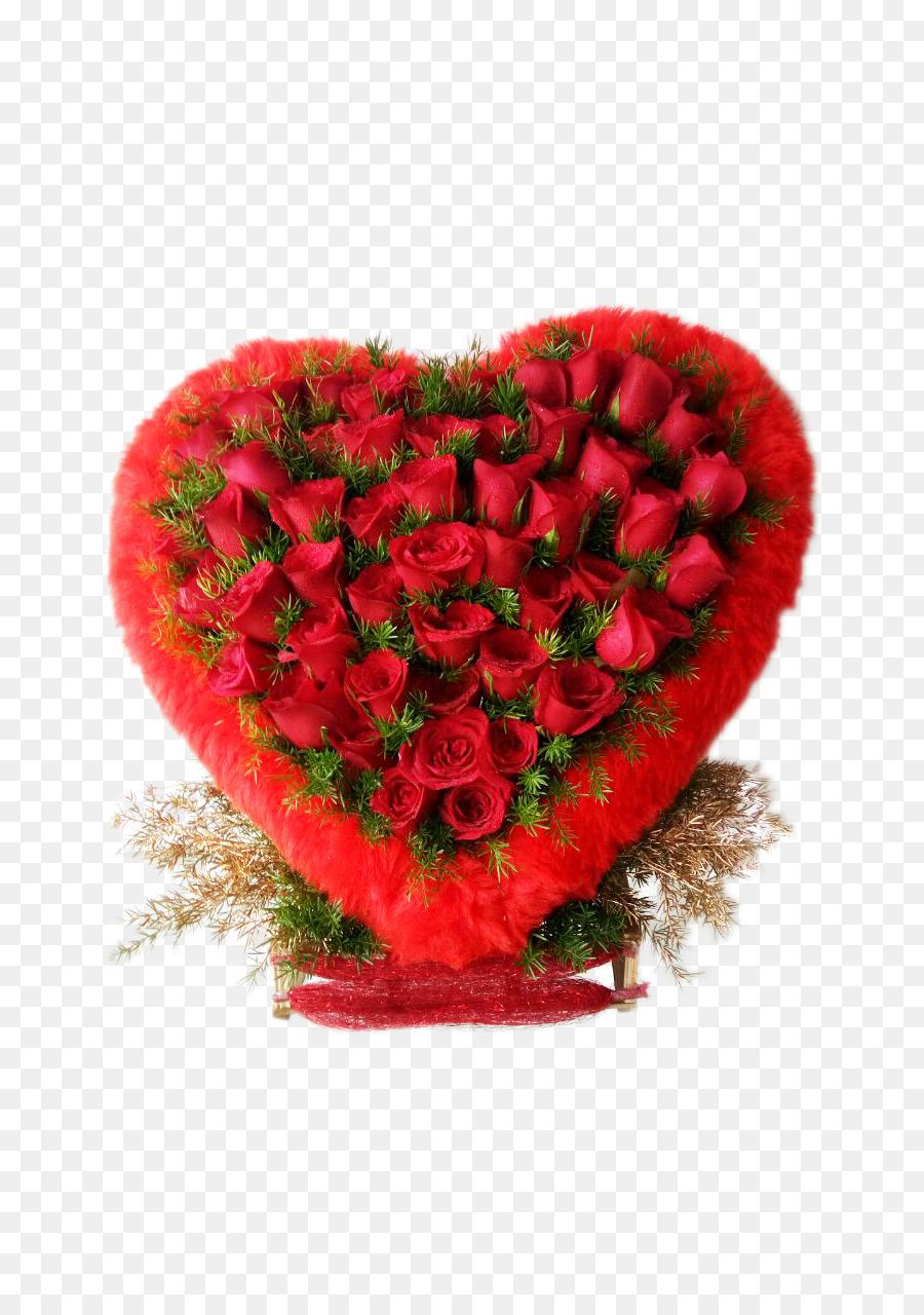 Garden roses Flower bouquet Heart - heart-shaped bouquet png ...