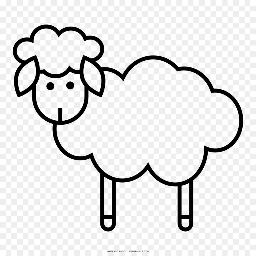 çizim Boyama Kitabı Siyah Beyaz Koyun Koyun Png Indir 10001000