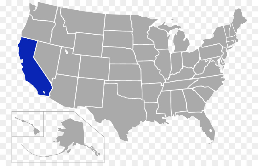 Confederate States of America Blank map California U.S. state - map ...