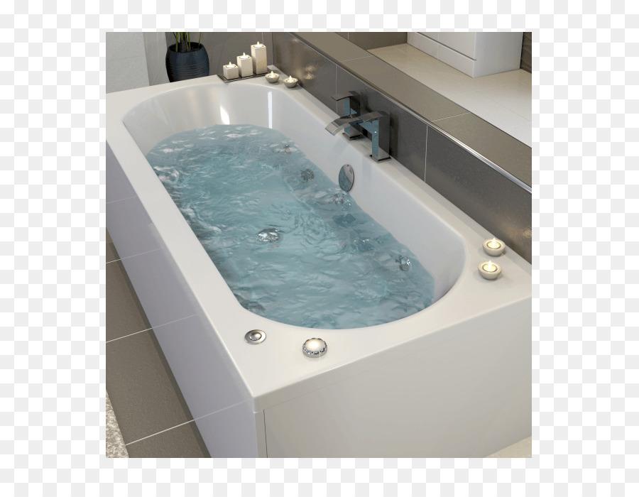 Hot tub Bathtub Bathroom Steam shower - Whirlpool Bath png download ...