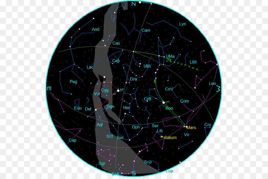 Star Chart Horoscope Sky Zodiac Star Png Download 595594 Free
