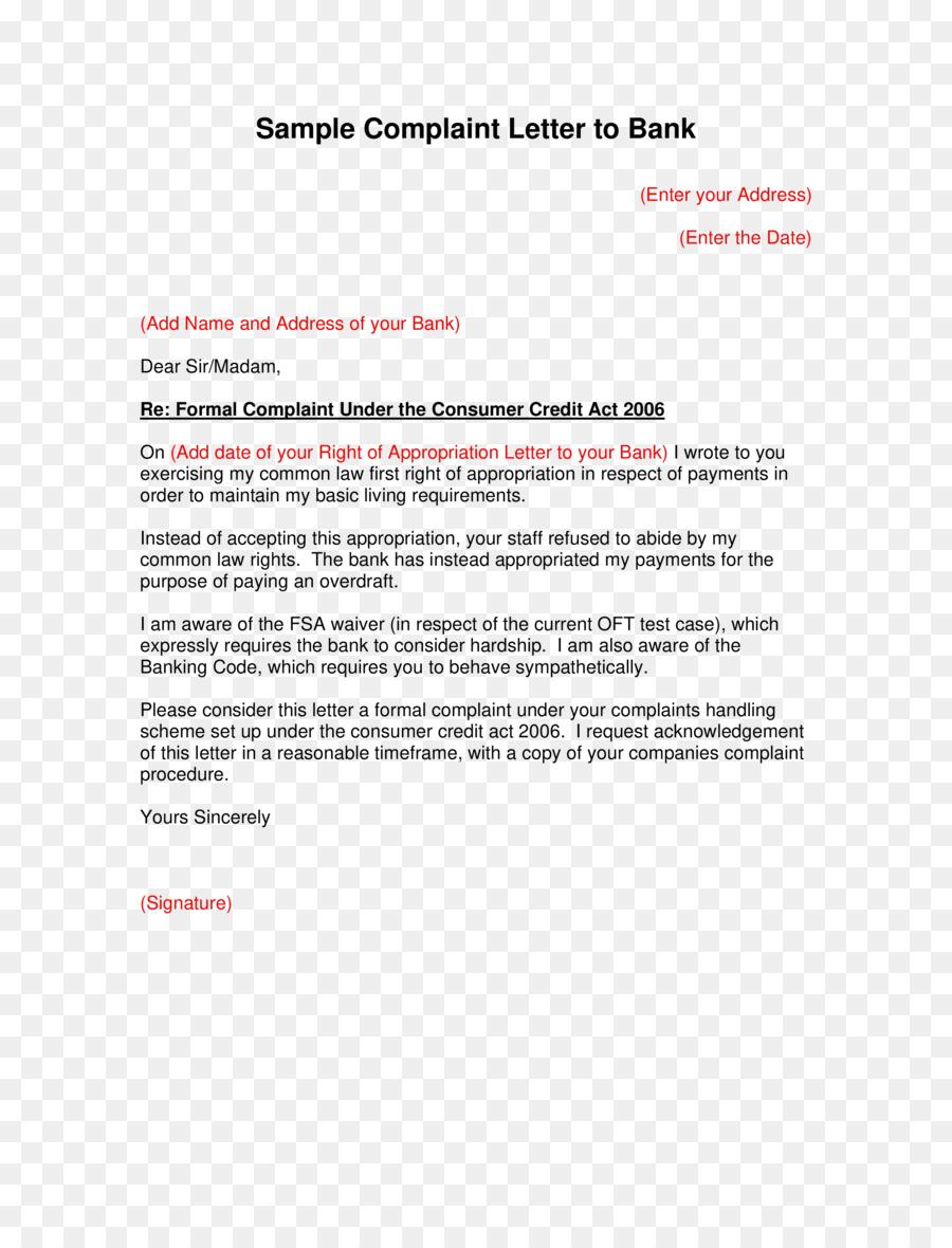 Document Complaint Letter Form Template Dnya Png Download 2550