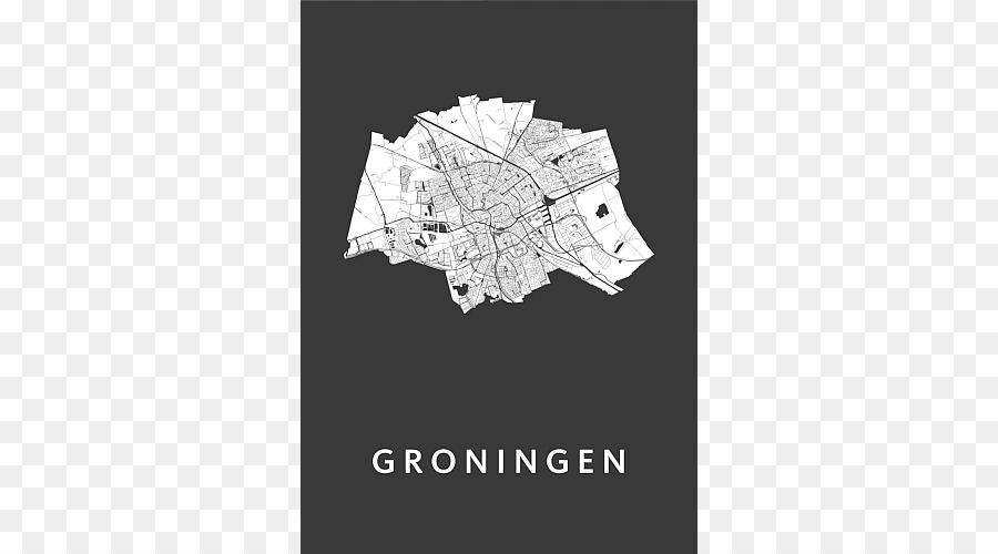 groningen map kunst in kaart poster - a3 poster png download - 500