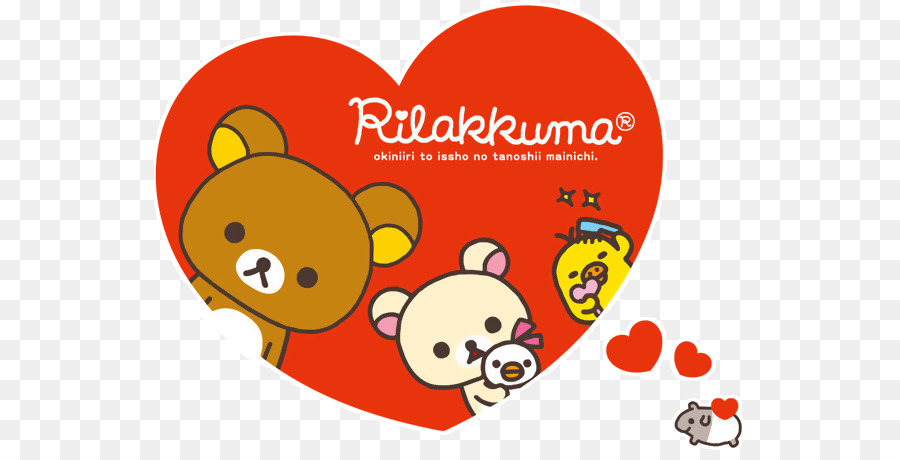 Rilakkuma Hello Kitty Valentine S Day Bear Desktop Wallpaper