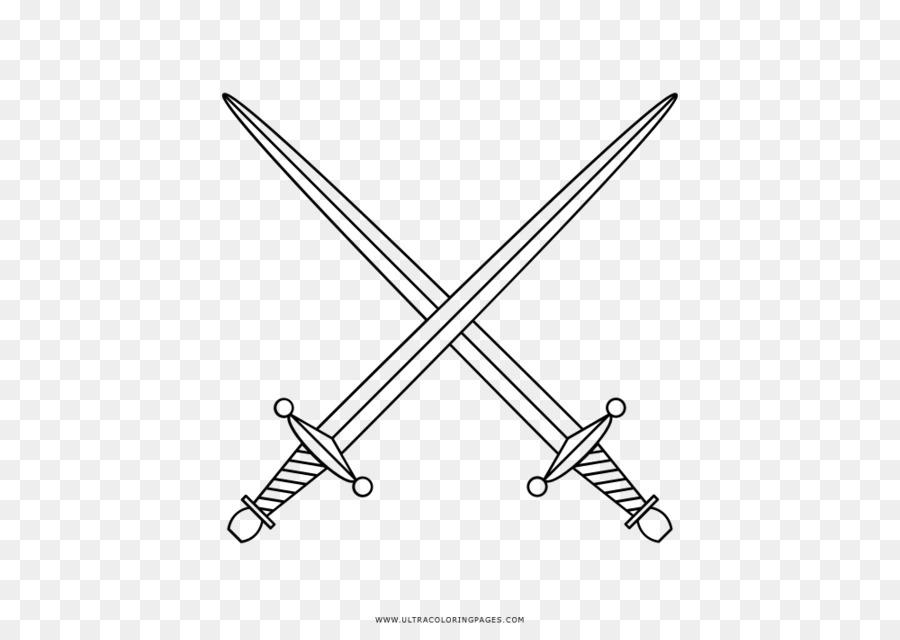 Espada libro para Colorear, Dibujo de Caballero - Espada png dibujo ...