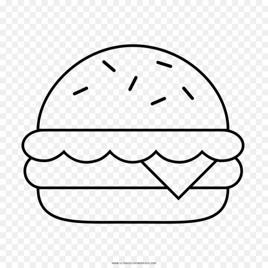 Hamburger Makanan Cepat Saji Menggambar Buku Mewarnai Makanan