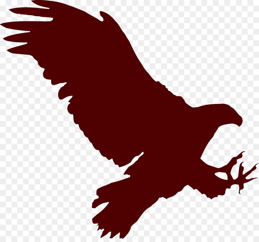 bald eagle paper silhouette flying eagle png download 3000 2760