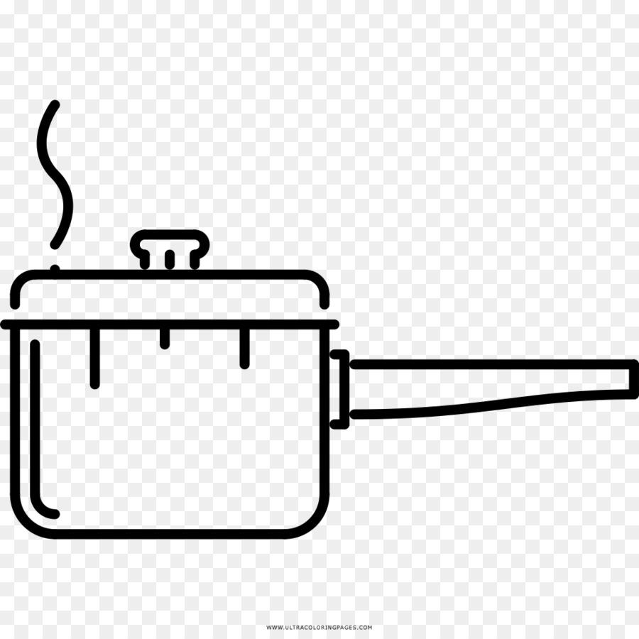 Dibujo para Colorear libro Utensilios de cocina Ollas Stock ...