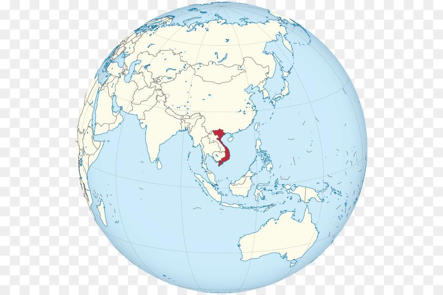 Vietnam Globe Cambodia World map - globe png download - 600*600 ...