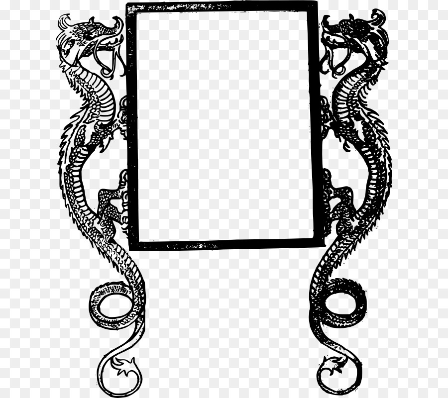 Picture Frames Dragon Clip art - dragon frame png download - 800*800 ...