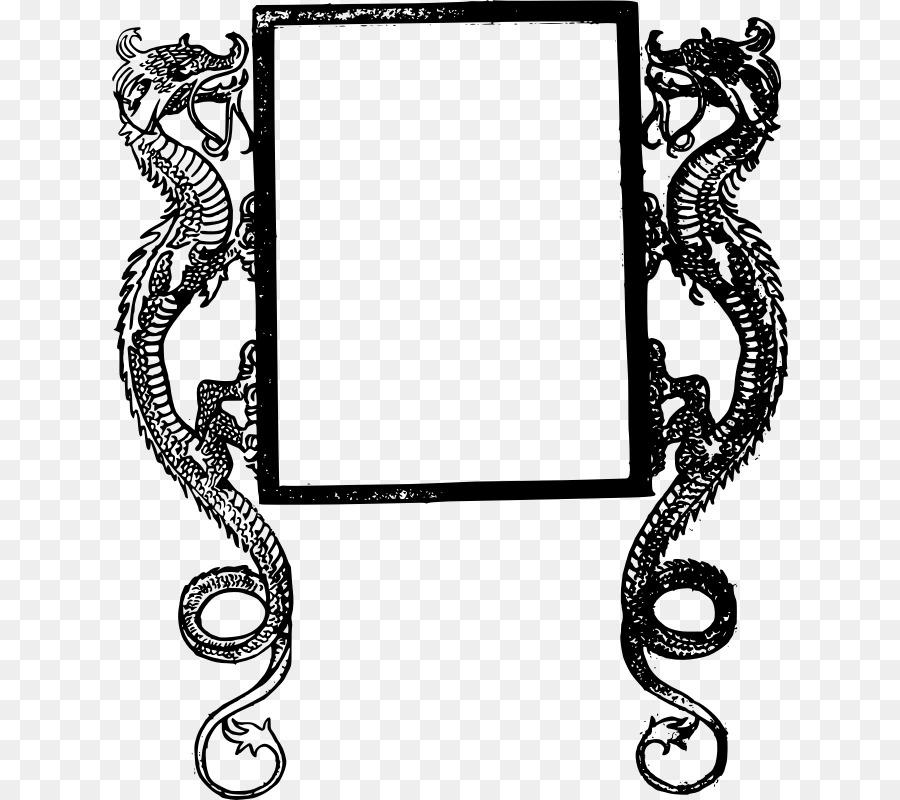 Picture Frames Dragon Clip art - dragon frame png download - 800*800 ...