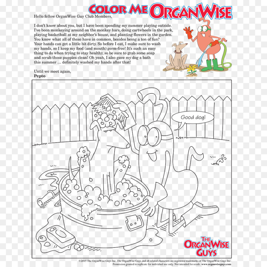 Hand Washing Coloring Book Paper