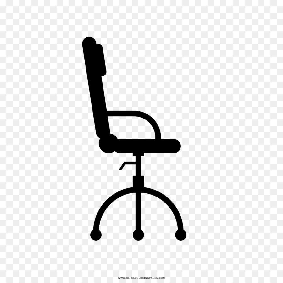 Büro Schreibtisch Stühle Zeichnen Malbuch Stuhl Png