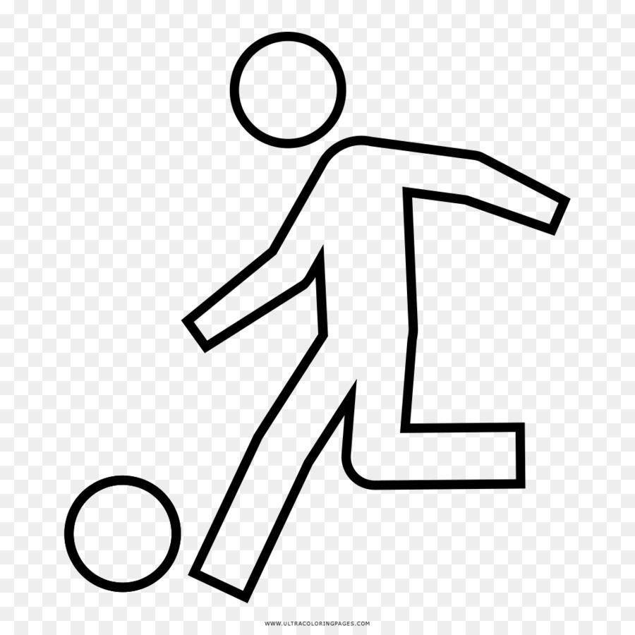 Giocatore Di Football Disegno Da Colorare Calcio Scaricare Png