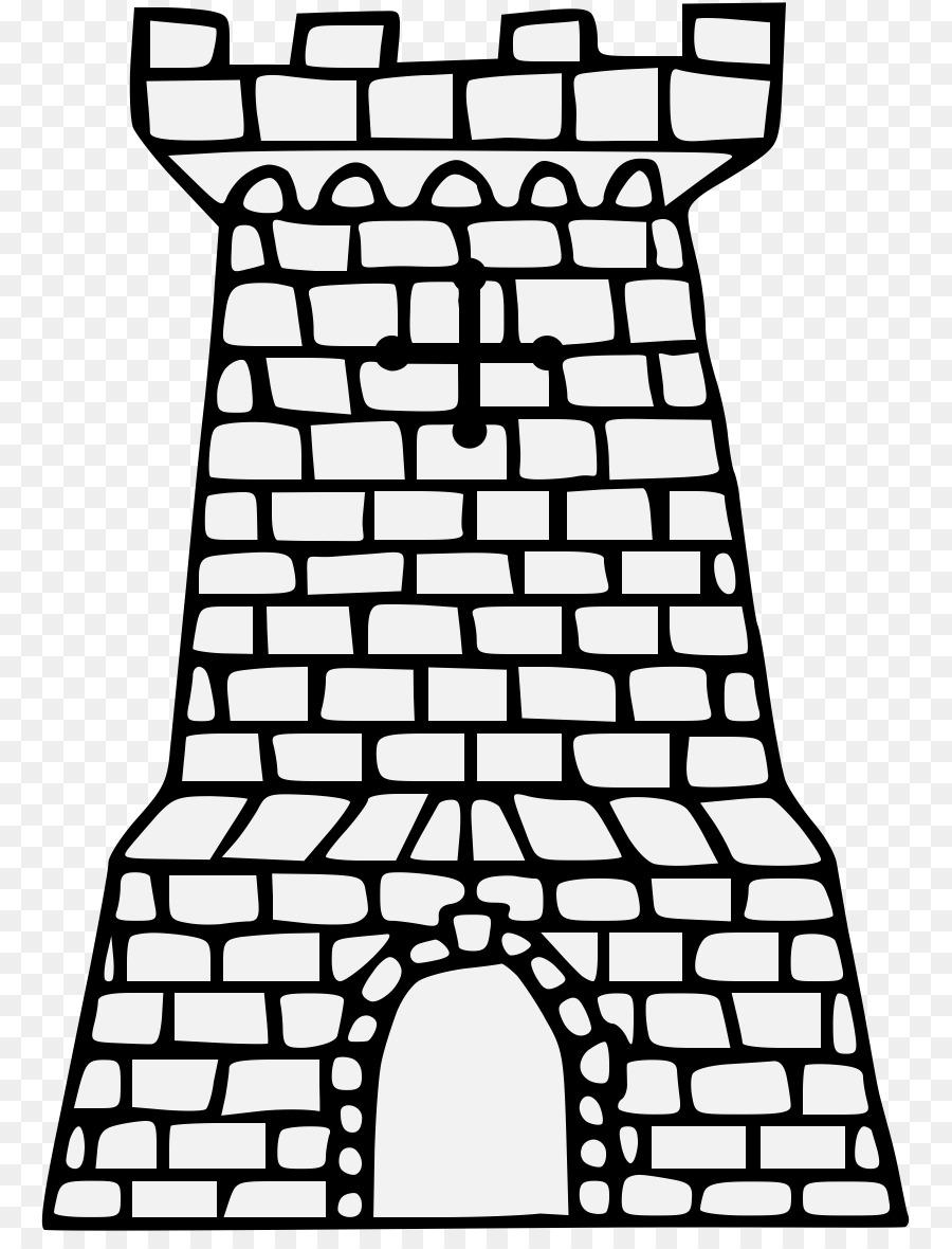 torre fortificada de castelo de desenho para colorir castelo