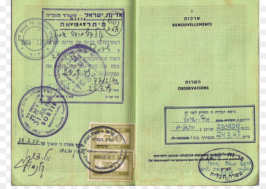 Israeli Passport Identity Document Stamp