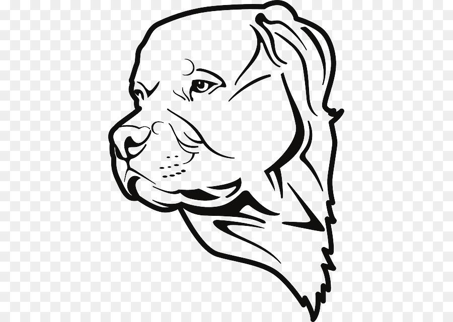 Rottweiler American Pit Bull Terrier Dibujo Para Colorear De ...