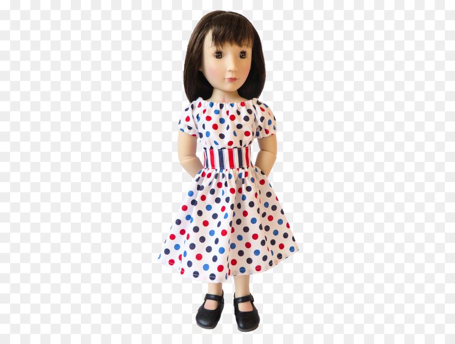 Polka dot Niño Vestido de la Muñeca - las niñas ropa de patrón png ...