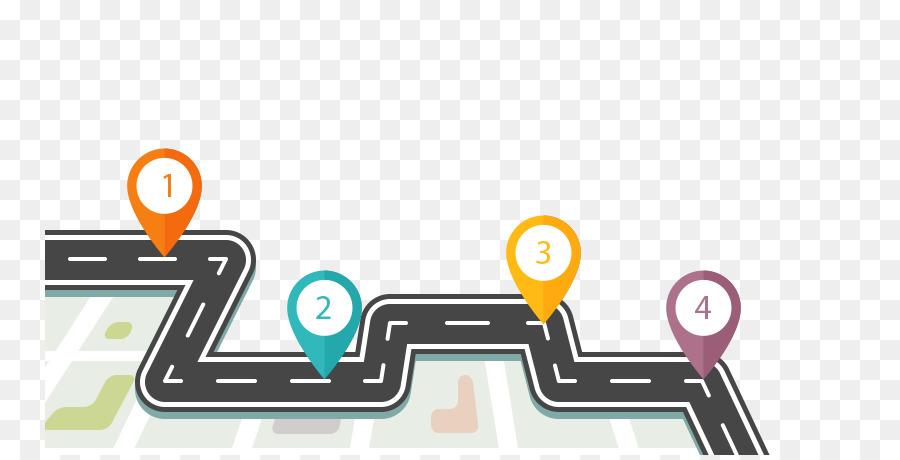 Technology roadmap Business Road map - internet element png download ...