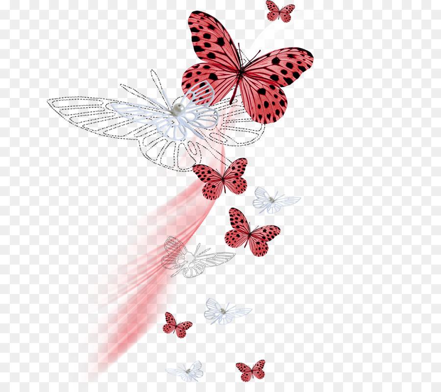 Pino de las Mariposas y las polillas de Color - mariposa png dibujo ...