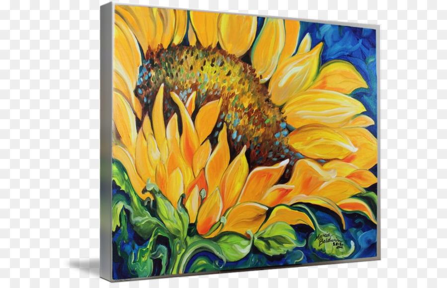 Gemeinsame Sonnenblumen Aquarell-Malerei, Acryl, malen, Kunst ...