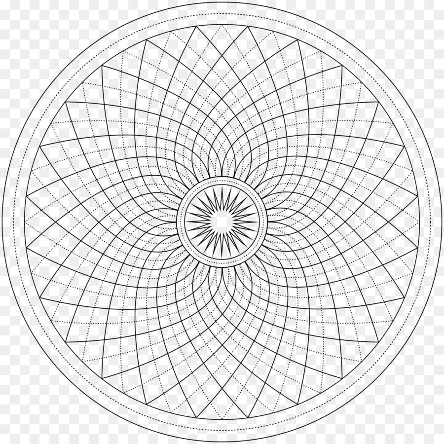 Sacred geometry Coloring book Art Clip art - line png download ...