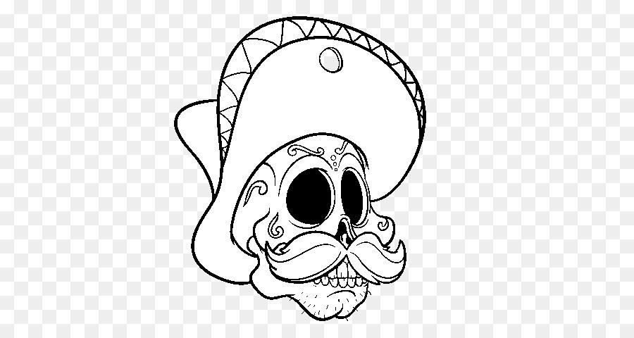 La Calavera Catrina México Dibujo para Colorear libro - cráneo png ...
